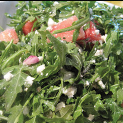 This Arugula, Watermelon and Feta Salad recipe will bring a fun and fresh twist to your summer holiday!  #STARFineFoods