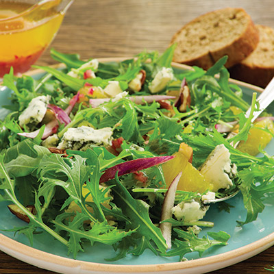 Quick and simple, this Chevre and Arugula Salad recipe is the perfect pairing for any meal.  #STARFineFoods