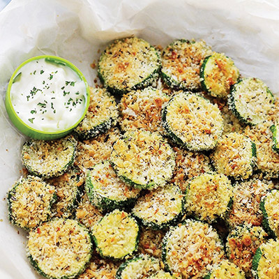 Baked Garlic Parmesan Zucchini Chips Recipe