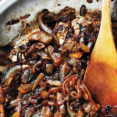 Soft, dark and sweet caramelized onions with a splash of tangy balsamic vinegar.  #STARFineFoods