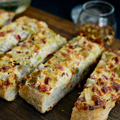 Cheesy-Artichoke,-Pepper-&-Olive-Bread