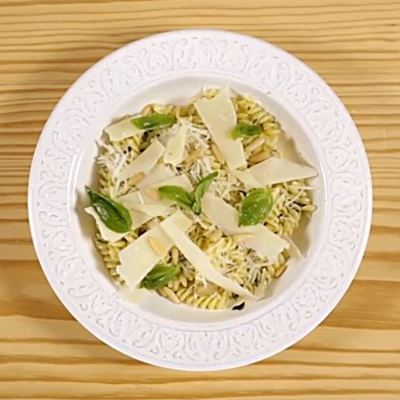 Fusilli with Pesto Featured