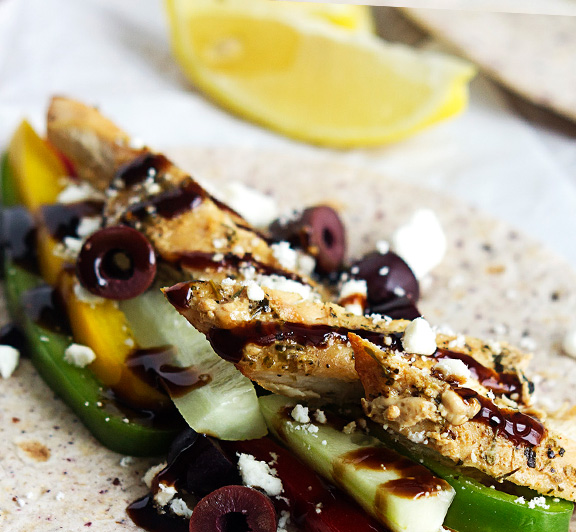 Fresh and easy Greek-inspired chicken tacos you can whip up in 20 minutes!   #STARFineFoods