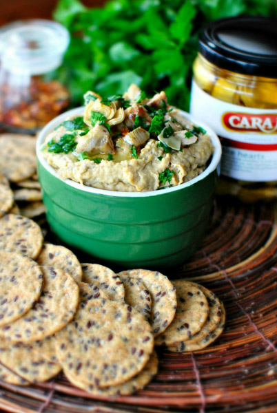 This grilled artichoke hummus recipe is scrumptious! Grilled artichoke hearts add a delicious layer of flavor to your traditional hummus!  #STARFineFoods