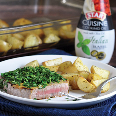 Herb-Crusted-Steak-with-Oven-Roasted-Potatoes