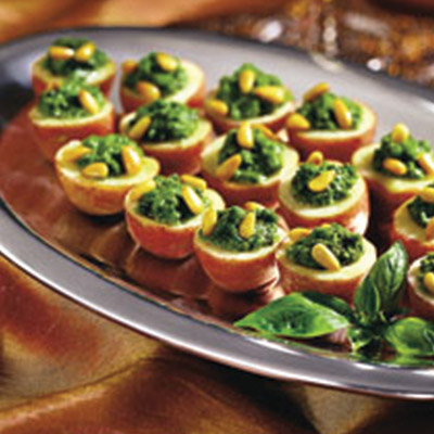 Add this Pesto Potato Bites recipe to your dinner table and watch as they magically disappear!  #STARFineFoods