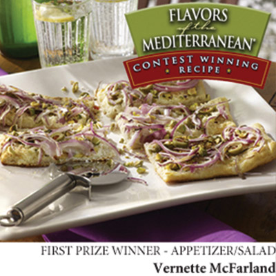 Fall in love with pizza all over again with this yummy Pistachio & Olive Mediterranean-Style Pizza recipe. Share the joy with your fellow pizza connoisseurs!  #STARFineFoods