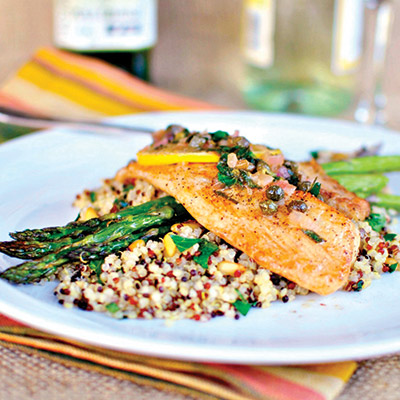 This recipe featuring pan-seared tilapia is light, healthy, and full of flavor! #STARFineFoods