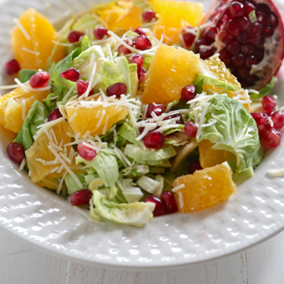 Pomegranate Citrus Brussels Sprout Salad 400x400