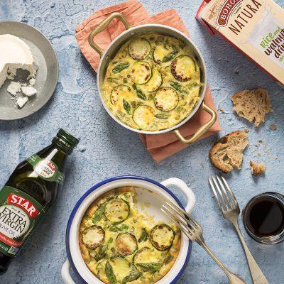 Asparagus and Zucchini Frittata