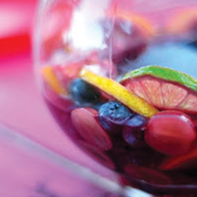 Sangria is a wine punch typical of Spain. You start with a cheaper red table wine and can play with the other ingredients such as the fruit juices or carbonation using ginger ale, Sprite or club soda. #STARFineFoods