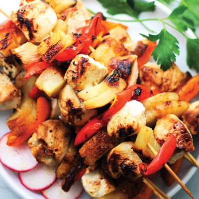 Sesame-Soy-Pineapple-Chicken-Kabobs