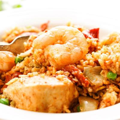 Slow Cooker Paella Recipe