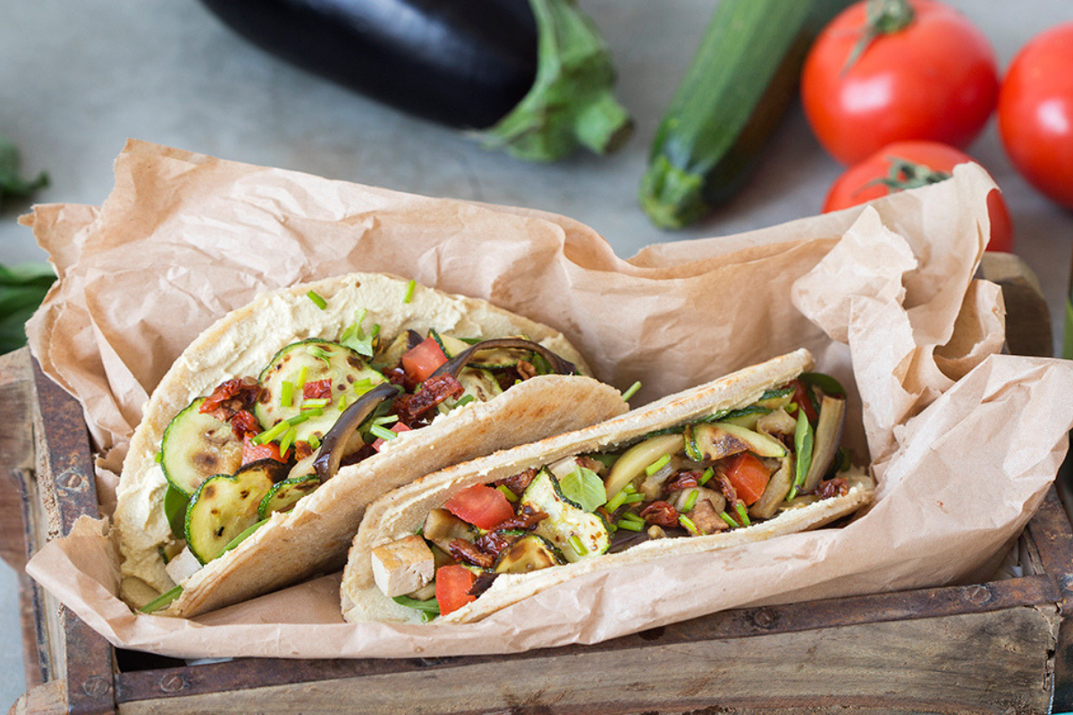 Piadinas are thin flatbreads originally from the Emilia-Romagna region of Italy. You can buy them ready made, but the traditional recipe uses lard, so if you want a vegan version, look for ones made with olive oil. You can fill them with all your favorite ingredients to create your own version. #STARFineFoods