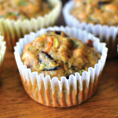 Zucchini-Carrot-Muffins